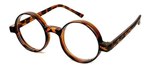 Kerkhoff Style Fashion Vintage Round Circle Eyeglasses with Clear Lens - Sale Vintage Eyeglasses