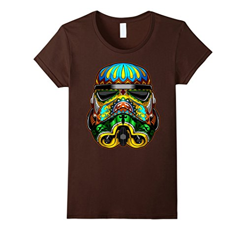 rmtrooper Ornate Sugar Skull Graphic T-Shirt C1 Large Brown ()