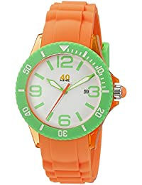 Unisex 40NINE03/ORG1 Medium Watch with Silicone Band