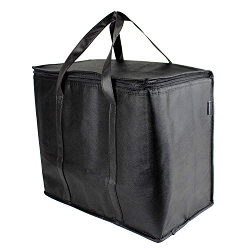 SB Organics Insulated Thermal Food Delivery Bag - Portable Lunch Bag Great for Grocery Shopping, Catering Supplies, and Food Transportation - Use as Food Warmer and Cooler - 15 x 9 x 12-Inches 1PK