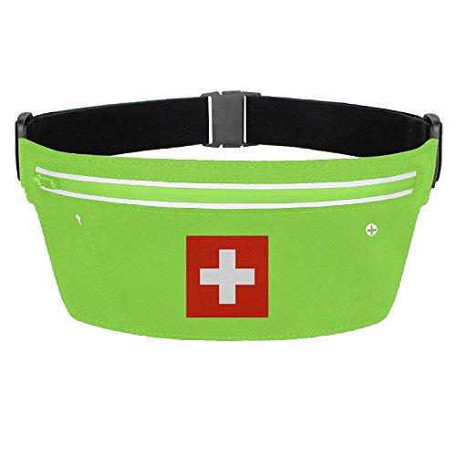 Waist Pack Bag Switzerland Flag Running Belt Ultrathin Hide Purse Adjustable Waterproof Outdoor