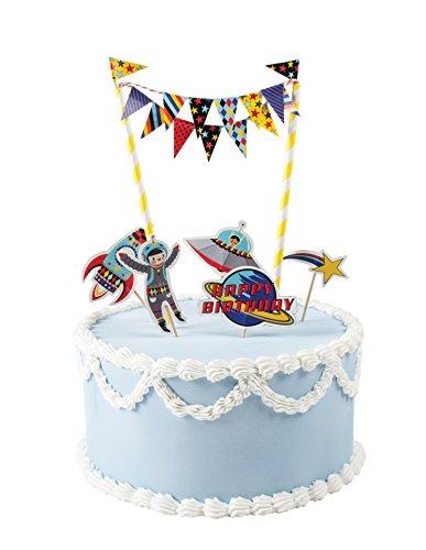 Party Partners Blast Off Mini Cake Decorating Kit, Multicolor ()