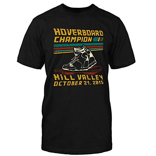 Hoverboard Champion Hill Valley Shirt Black