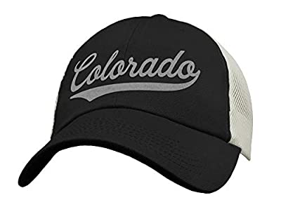 State of Colorado Trucker Hat Baseball Cap - Sports Snapback Mesh Low Profile Unstructured - USA