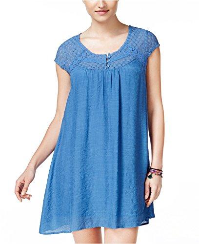 Crochet Trim Shift Dress - 4