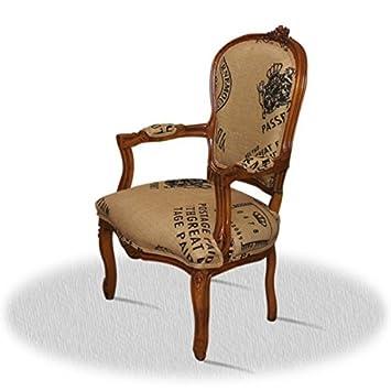 LouisXV Silla barroco de estilo antiguo AlCh0307HzPp rococó ...