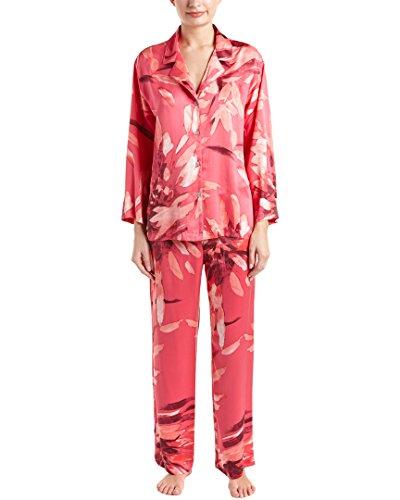 Natori Womens Dahlia 2Pc Charmeuse Pajama Set, M - Charmeuse Pajamas