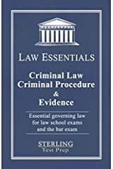 Criminal Law, Criminal Procedure & Evidence, Law Essentials: Governing Law for Law School and Bar Exam Prep Paperback