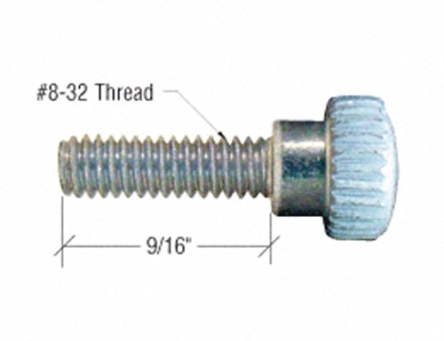 CRL White 8-32 x 9/16' Knurled Thumb Screws by CR Laurence (Image #1)