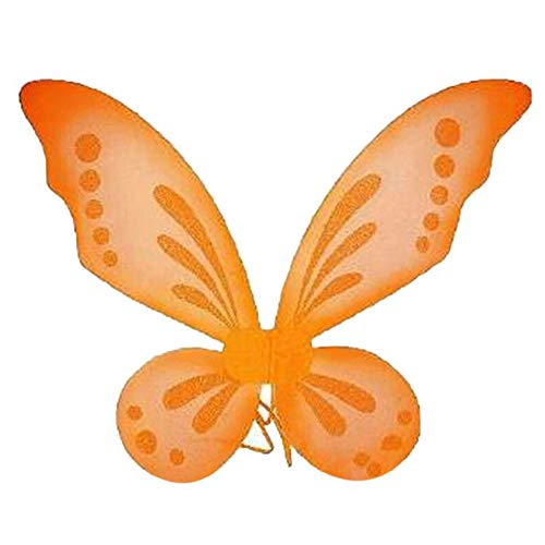 Dushi Butterfly Fairy Wings Dress Up Wings Birthday Party Favor Accessory Halloween Costume (Orange)