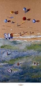 Adolf Llovera – Entre el mar y la arena que Artistica di Stampa (45,72 x 96,52 cm)