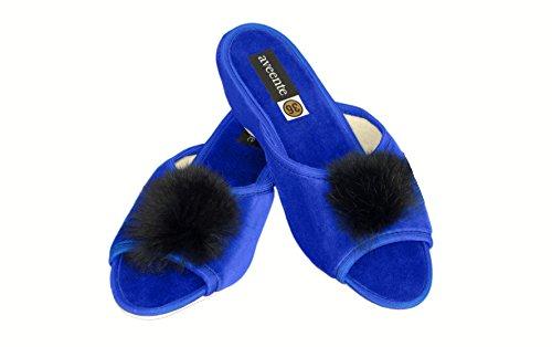 Aveente - Sandalias con plataforma para mujer con joyas, sexy, varios colores disponibles Azul - azul