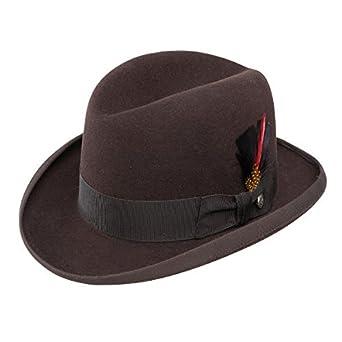 816109e341d7e Stetson Fur Felt Homburg Hat at Amazon Men s Clothing store