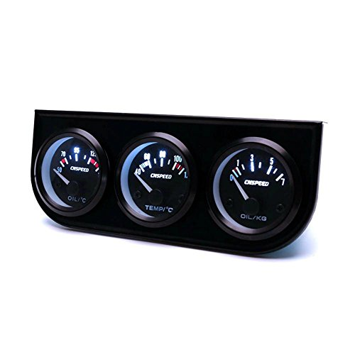 ExGizmo 52mm Triple Gauge 3 in 1 Voltmeter Water Temp Temperature Oil Pressure Car Meter Auto Sensor by ExGizmo (Image #3)