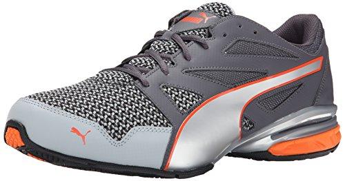 PUMA Men's Tazon Modern Cross-Training Shoe, Quarry/Silver/Orange, 10.5 M US