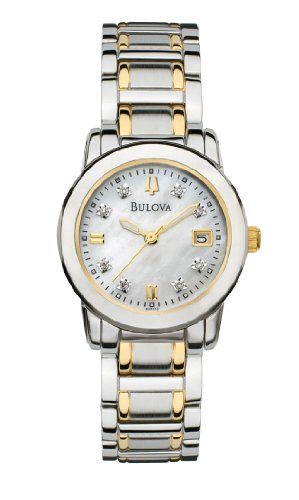 Bulova Women's 98P112 Diamond Accented Dial Two-Tone Bracelet Watch