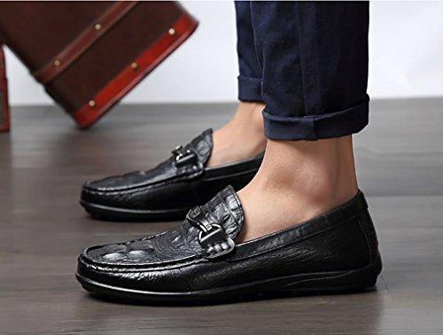 Men Scarpe Suole Sera amp; 43 S ' Guida Business Slip Mocassini In YAN Lavoro Scarpe Pelle Luce Party Ons dq7vwRpT