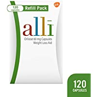 Alli 120 Capsules of 60 mg Orlistat Weight Loss Supplement Refill Pack