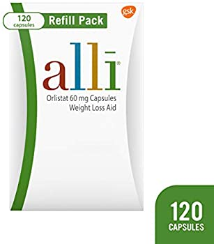 120-Capsules Alli Orlistat Weight Loss Supplement Refill Pack 60 mg