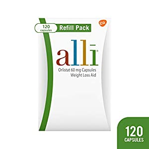 Health Shopping alli Weight Loss Diet Pills, Orlistat 60 mg Capsules, Non Prescription Weight Loss Aid, 120 Count Refill Pack
