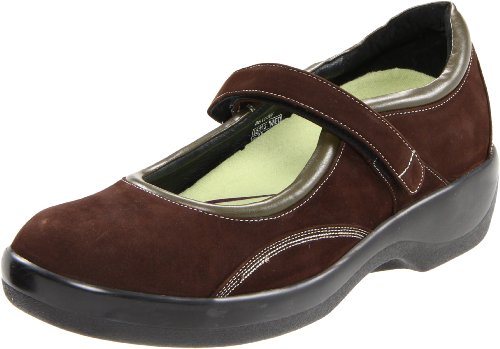 Aetrex Women's B6100 Mary Jane,Brown,5.5 W US