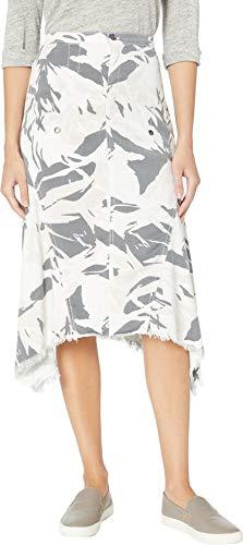 XCVI Women's Countryside Skirt in Aloe Twill Promenade Large