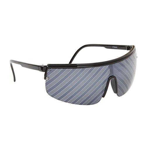 FancyG® Cool Party Fun Style Whacky Striped Single Piece Lens UV Protection Sunglasses Frame Eyewear - - Single Frame Sunglasses