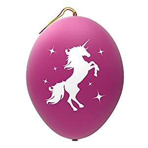 John & Judy 24 Purple Unicorn Punch Balloons - Best for Birthday Gift Bags, Kids Games, Princess Parties and Unicorn Party Supplies - Extra Large, Eco Friendly Natural Latex Punch Balls for Girls By