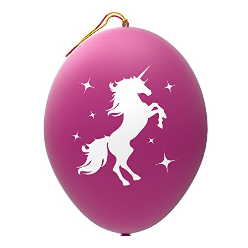 John & Judy 24 Purple Unicorn Punch Balloons - Best for Birthday Gift Bags, Kids Games, Princess Parties and Unicorn Party Supplies - Extra Large, Eco Friendly Natural Latex Punch Balls for Girls]()