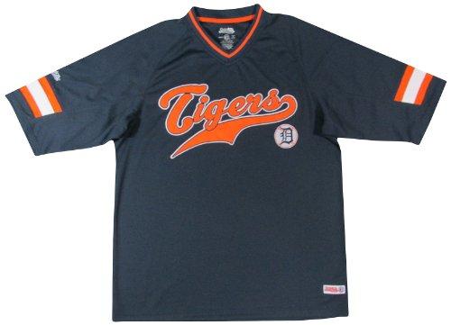 MLB Detroit Tigers Boy's V-Neck Raglan Top, Navy, X-Large
