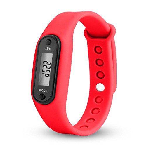 Red Fabulous Formal Evening Dress - Han Shi Sport Watch, Run Step Pedometer Wristwatch Bracelet Calorie Digital LCD Clock (A, Red)