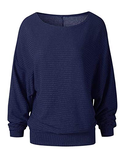 Longues Rond Col Femme Pullover El Manches Large Pulli fqxApq