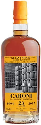 Caroni Guyana 1994 23 Y.O. Full Proof 59% 70cl: Amazon.es ...