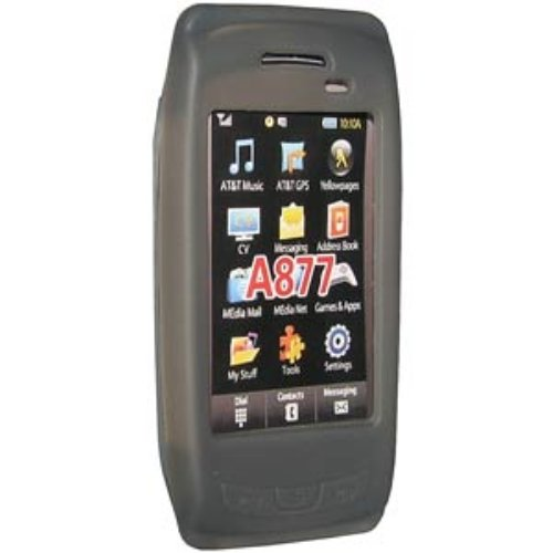 (Amzer Silicone Skin Jelly Case for Samsung Impression A877 - Gray)