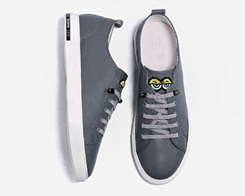 Dentelle Respirant Mode Blanc Cuir Tendance Chaussures Hommes Chaussures pour Occasionnels Chaussures NBWE en d'été Gray Chaussures wPzAq77t
