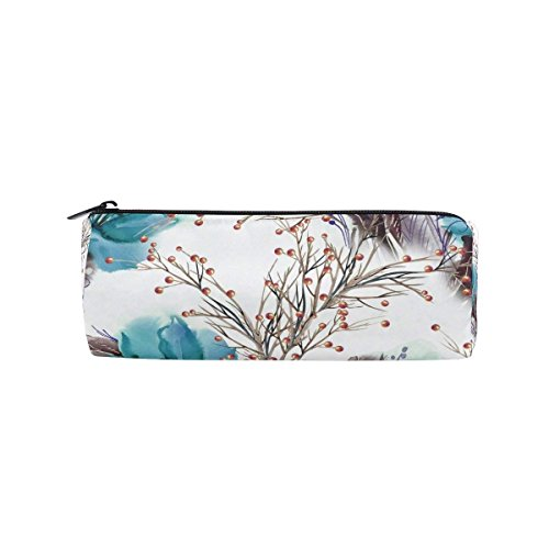 - Pencil Case Watercolor Christmas Amaryllis Canvas Big School Stationery Holder Cosmetic Bag with Zip Art Colored Pen Pouch for Kids Girls Boy (1 Pack)
