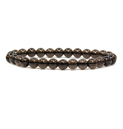 Bracelet Smoky Quartz Quartz - A Grade Smoky Quartz Gemstone 6mm Round Beads Stretch Bracelet 7