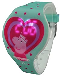Peppa Pig Kid's Wristband Watch with Light Up Digital Time PPG4017