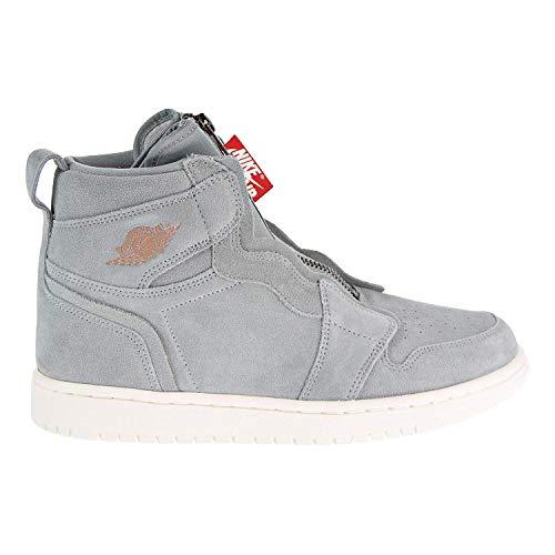 Nike Jordan Air Jordan 1 High Zip Women's Shoes Micagreen/Red aq3742-305 (9.5 B(M) US) Air Jordan 1 Shoes