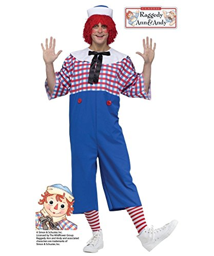 Fun World Men's Raggedy Andy Adult Costume, Multi, Standard for $<!--$35.85-->
