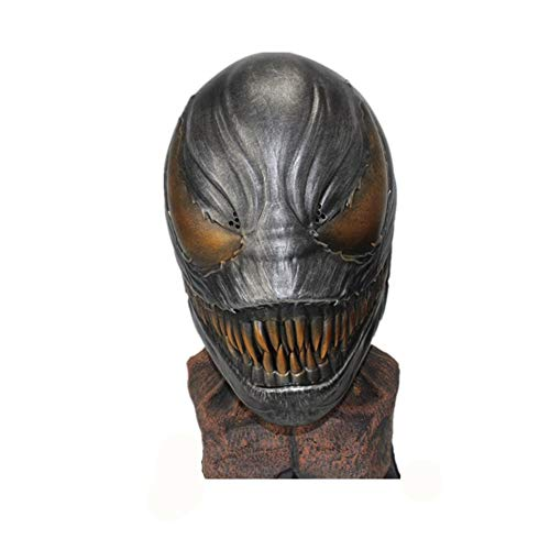 TTXST Halloween Mask Resin Mask Movie Terrorist Dress Up Resin Mask Helmet Cosplay Adult Men Hero Deluxe Resin Masks Costume Fancy Dress Party Prop,Silver]()
