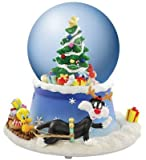 Tweety and Sylvester Christmas Tree Waterglobe Animated