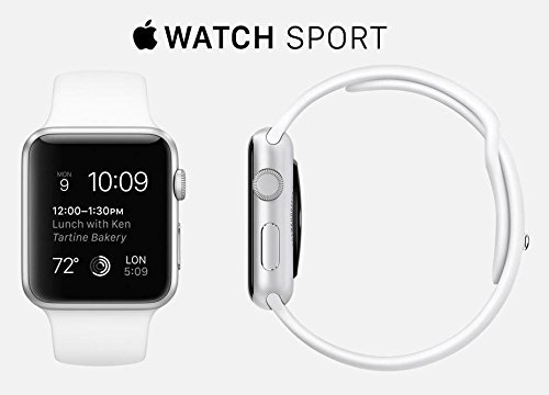 Apple Watch 7000 Series 38mm Aluminum Case Sport with White Sport Band