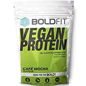 Boldfit Plant Protein Powder For Men & Women, Plant Based Vegan Protein Supplement With Superfoods (Cafe Mocha Flavor…