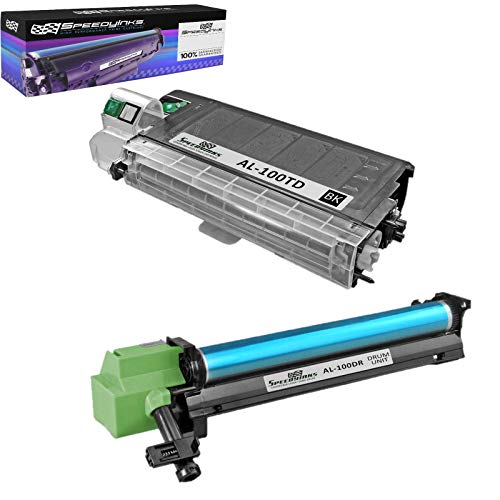 Speedy Inks Compatible Toner & Drum Set Replacement for Sharp AL-100TD and AL-100DR (1 Toner, 1 Drum, 2-Pack)