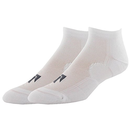 Pree Premium Technical Low-Cut Running Socks for Adults (2-pack), White, Small