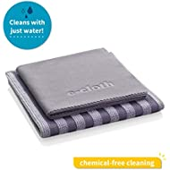 E-Cloth Stainless Steel Microfiber Cleaning Cloth Pack, Gray & Silver, 2 Cloth Set