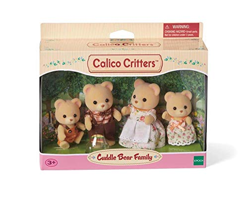 Calico Critters, Cuddle Bear Family Doll Baby Tree House Bundle (Game Walnut Set Table)