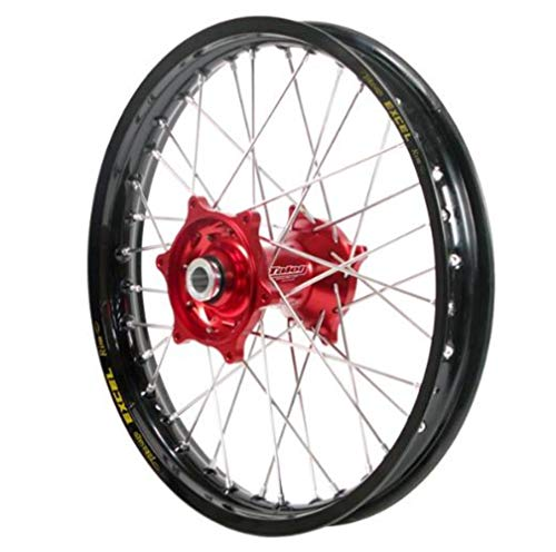 - Dubya Talon Red Hub with Excel Takasago Black Rim Painted Finish Front Wheel (1.60x21)