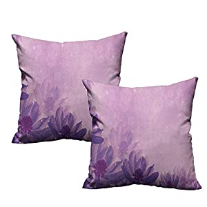 RuppertTextile Creative Pillowcase Anemone Flower Dreamlike Fantastic Composition with Anemone Magic Petals Blossoms with Hidden Zipper 92